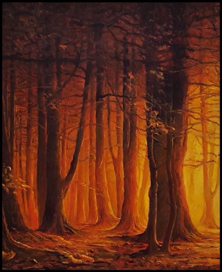 THOMAS CETNAROWSKI  Spirit of the Forest Original Oil 30 X 24