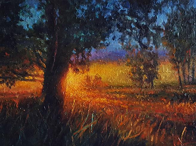 THOMAS CETNAROWSKI  Summer Sunset Original Oil 12 X 16