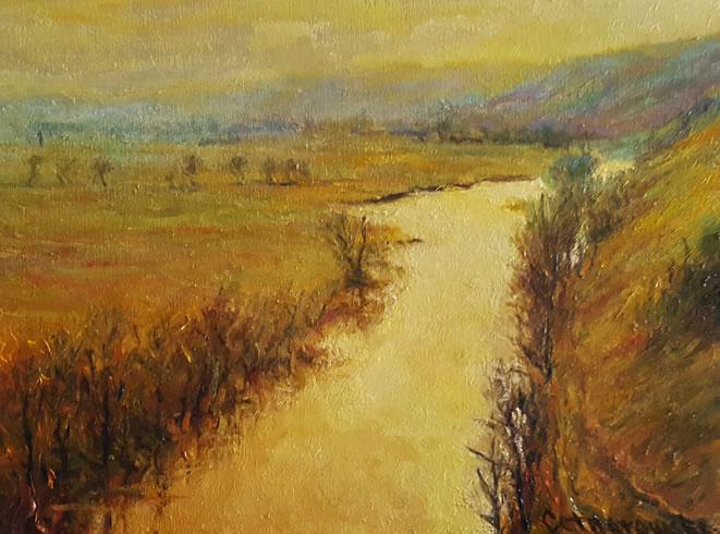THOMAS CETNAROWSKI  The River Original Oil 12 X 16
