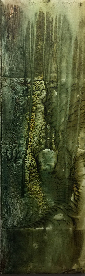 G KIM HINKSON  Grotto Original Mixed Media 12 X 36