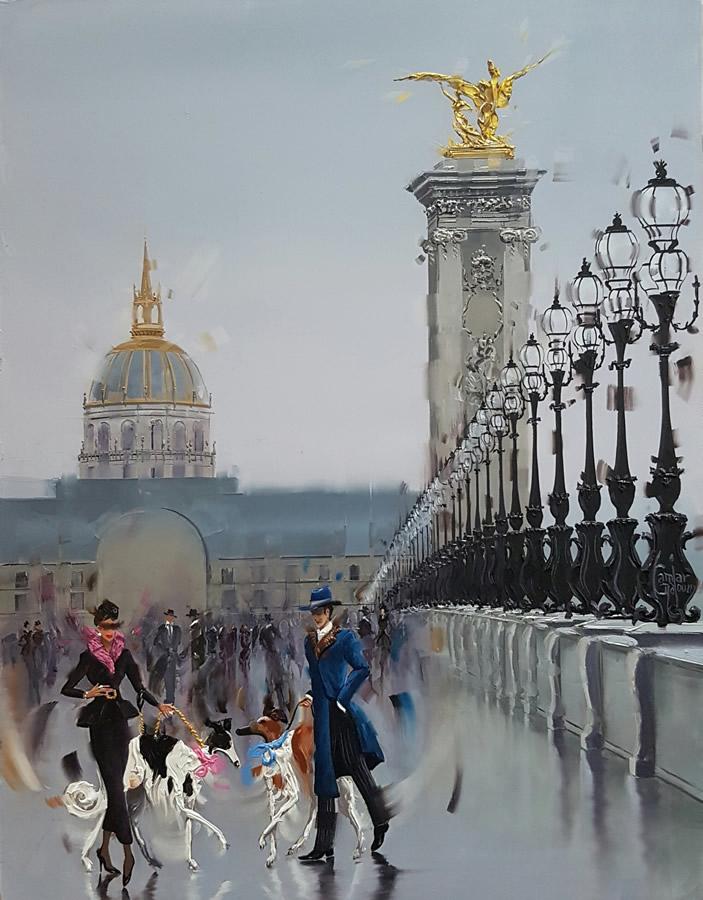 KAMIAR GAJOUM  Alexandre II Original Oil 12.5 X 16.5