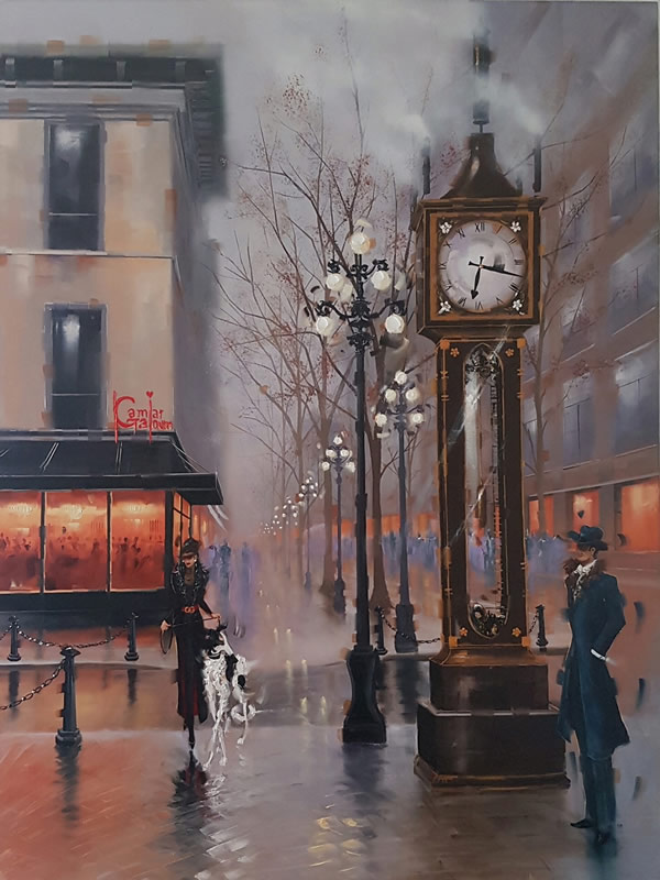 KAMIAR GAJOUM  Steam Clock Original Oil 36 X 48