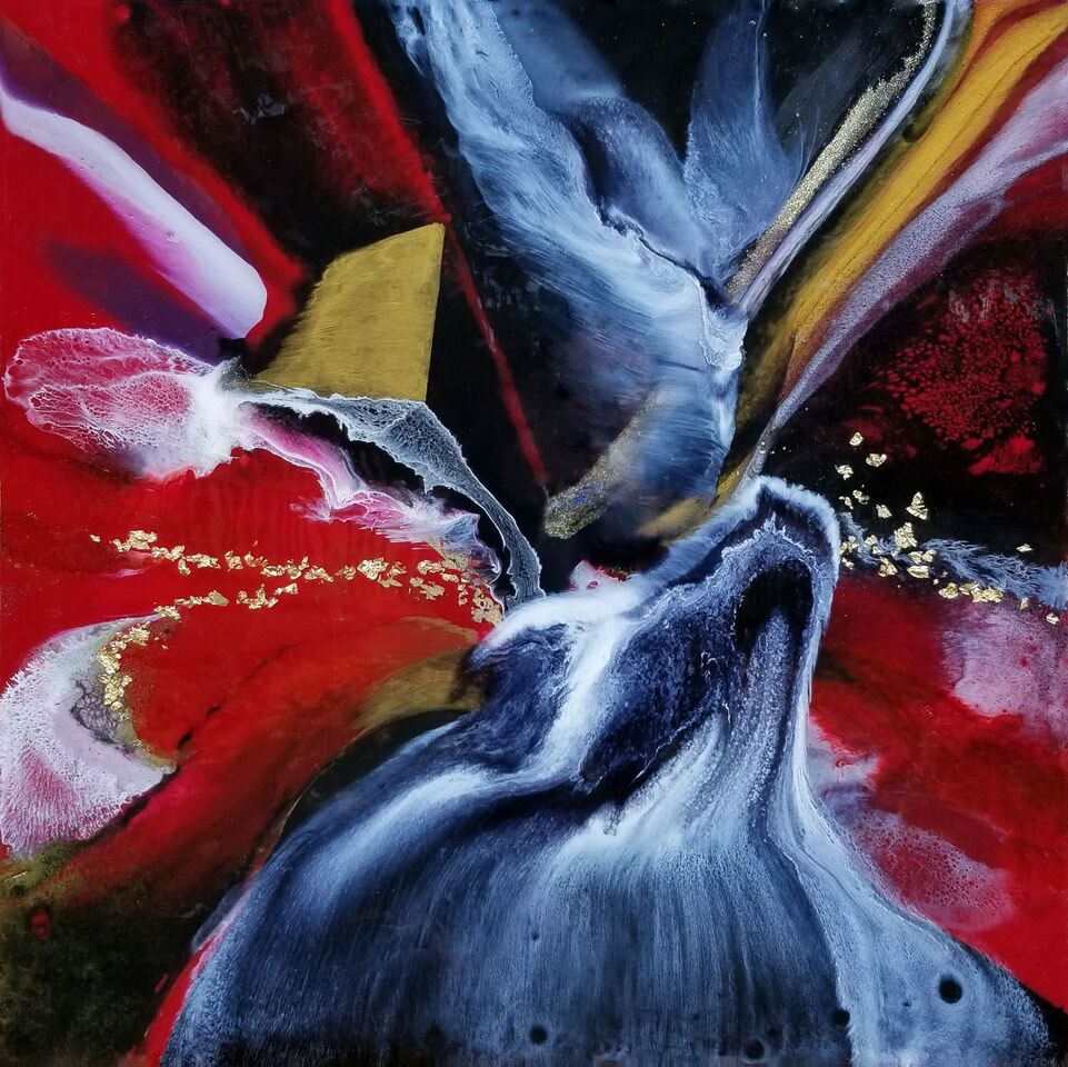 HOLLY BROMLEY  Red Sea Original Mixed Media 24 X 24