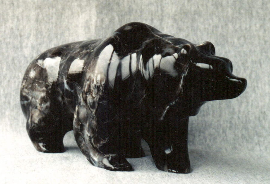 HERB LATREILLE  Black Bear Original Sculpture 11 X 7