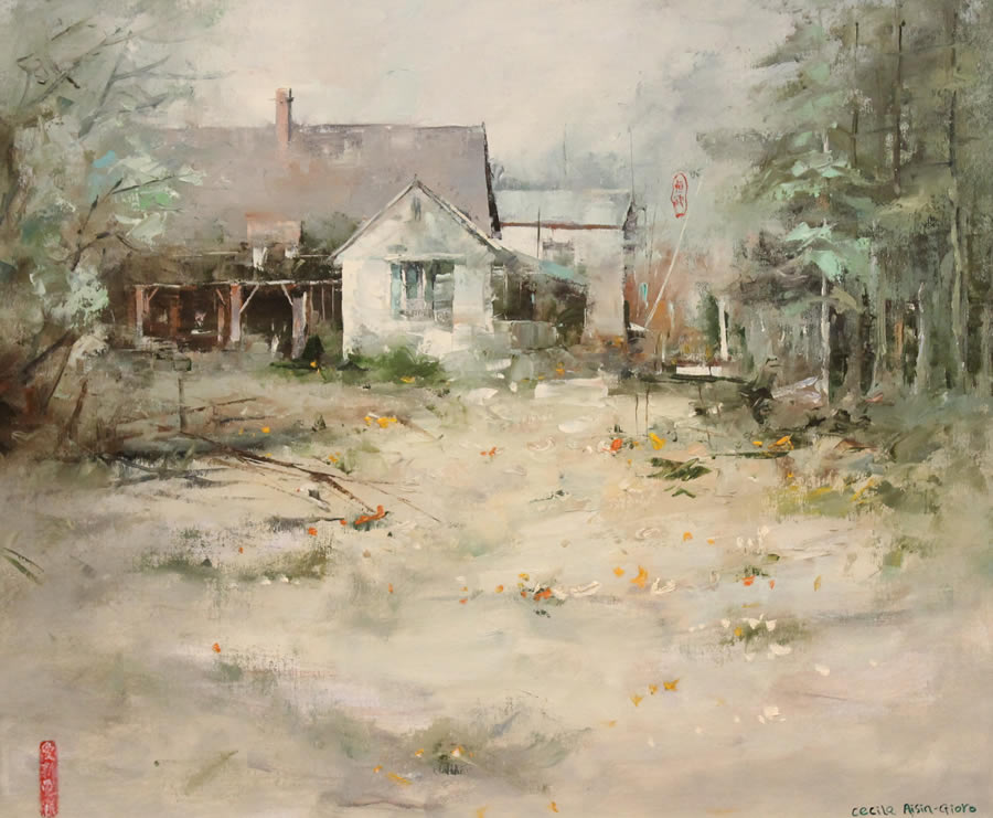 CECILIA AISIN-GIORO  The House Original Oil 25 x 28.5
