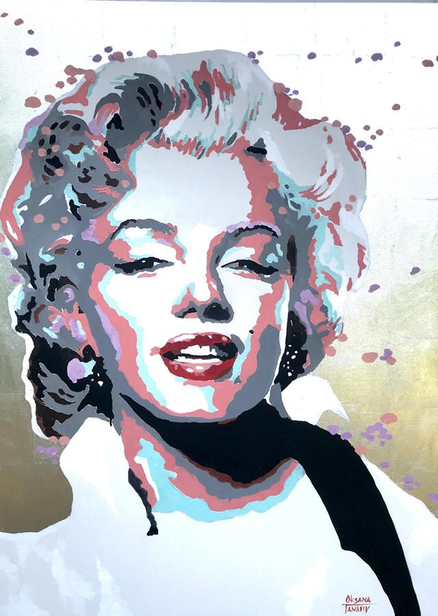 OKSANA TANASIV  Reincarnation series - Monroe Original Oil 36 X 48