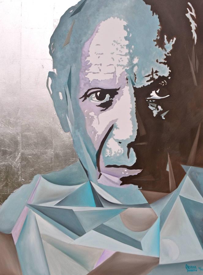 OKSANA TANASIV  Reincarnation series - Picasso Original Oil 36 X 48
