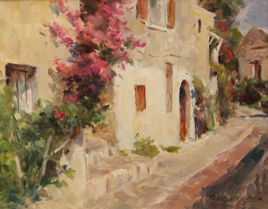 WILSON CHU  AFternoon in Provence Original Oil 16 x 20
