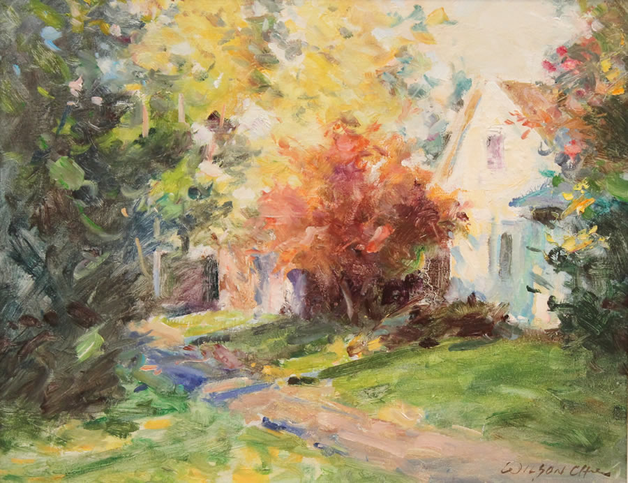 WILSON CHU  Autumn Original Oil 16 x 20