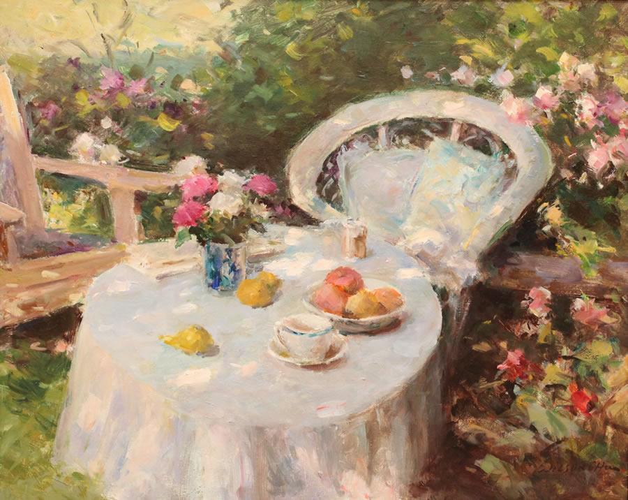 WILSON CHU  Inside the Garden Original Oil 24 x 30