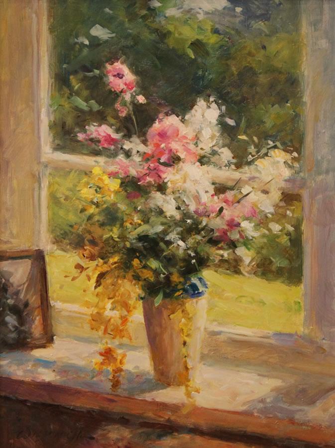 WILSON CHU  Morning Light Original Oil 24 x 18