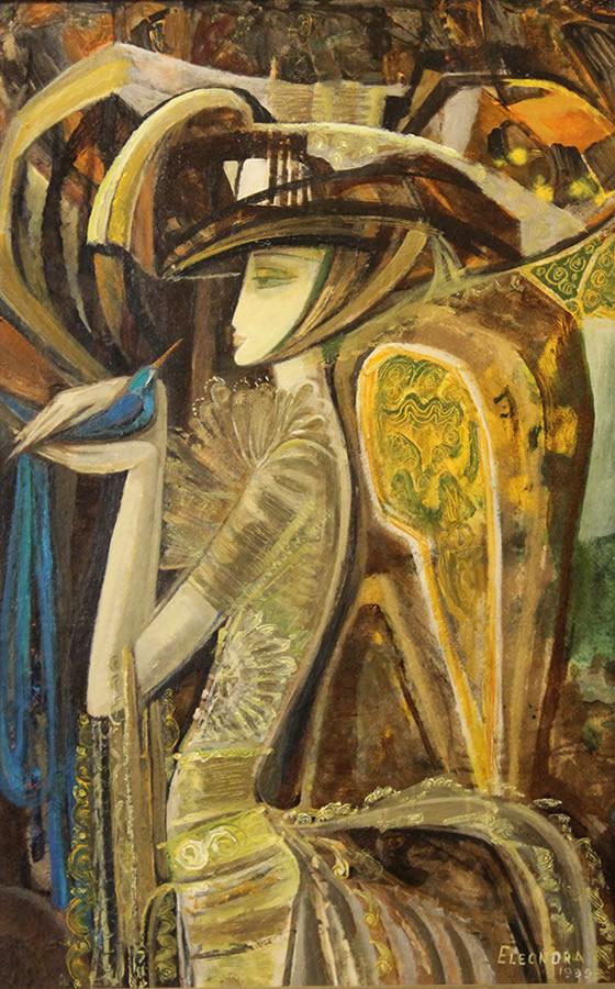 ELEANORA SIAMENAVA  Blue Bird Original Oil 38 X 26