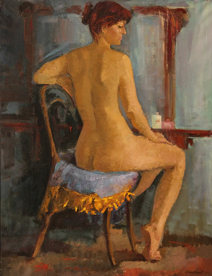 YURI FILIPPOV  The Mirror Original Oil 40.5 X 31.5