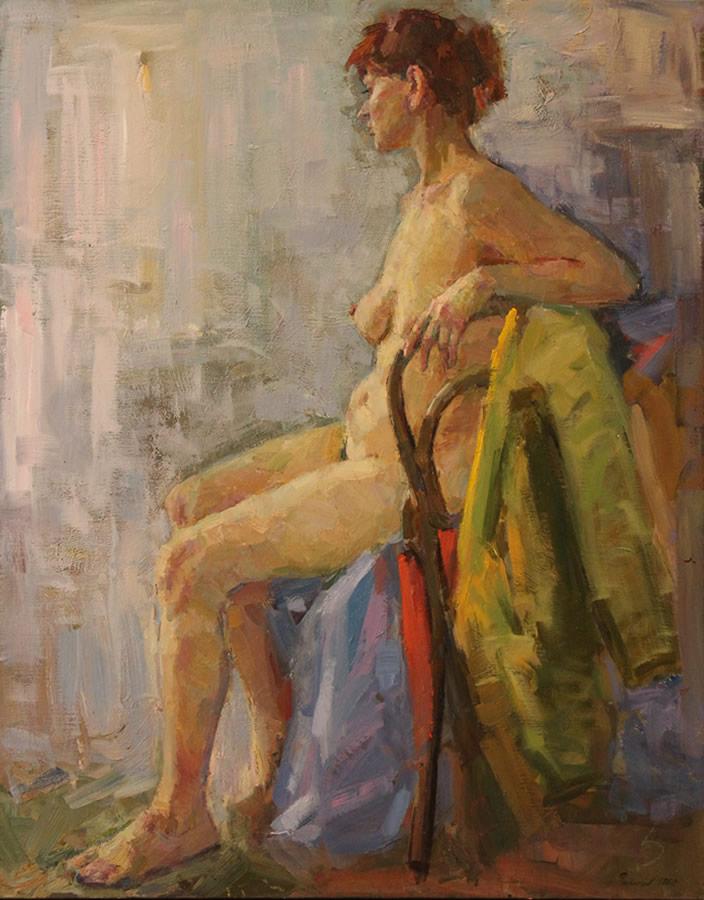 YURI FILIPPOV Nude Nude Original Oil 42 X 34