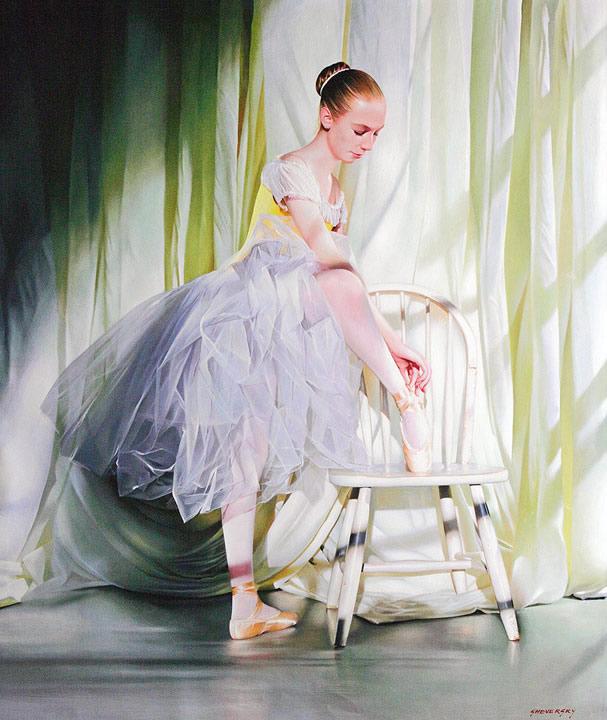 ALEXANDER SHEVERSKY  White on White Original Oil 51 x 40