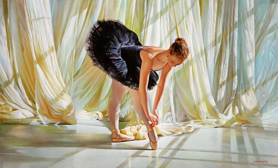 ALEXANDER SHEVERSKY  The Black Swan Original Oil 36 X 60