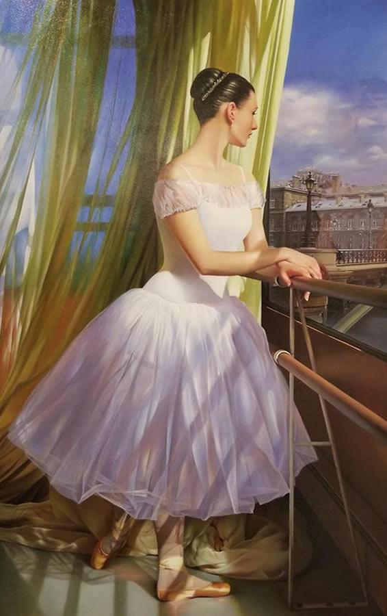 ALEXANDER SHEVERSKY  The Dream Original Oil 46 x 28