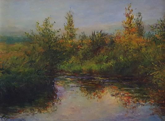 THOMAS CETNAROWSKI  Morning on the River Bend Original Oil 18 X 24