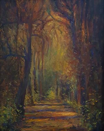 THOMAS CETNAROWSKI  The Path Original Oil 20 X 16