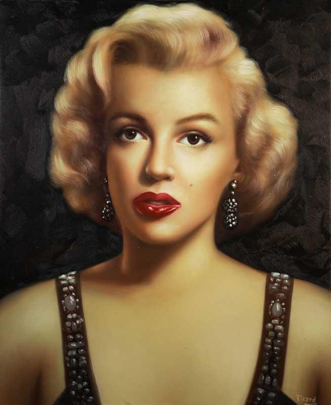 JAMES PICARD  Portrait of Marilyn Monroe Original Acrylic 23 X 19