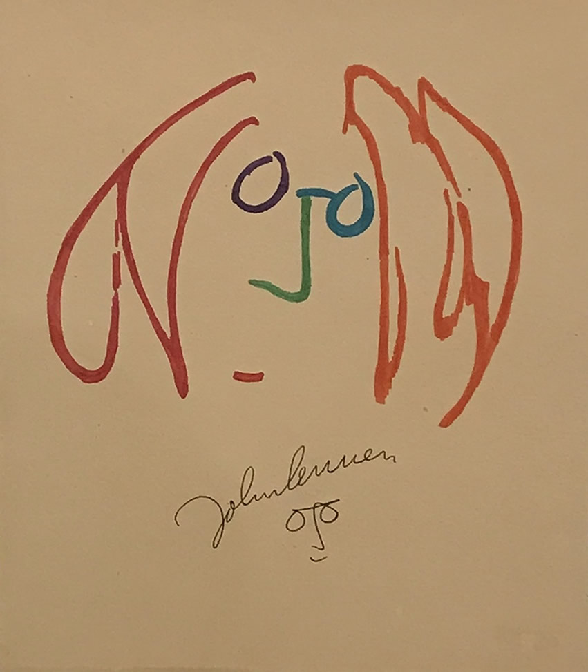 JOHN LENNON  Face Sketch Original Watercolour 12.5 X 10.5