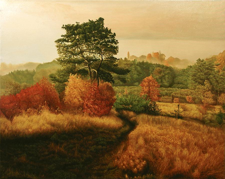 DAVID SHEPHERD  Tuscan Landscape Original Oil 30 X 24
