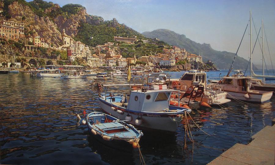 OLEG TURCHIN  Amalfi Original Oil 30 X 50