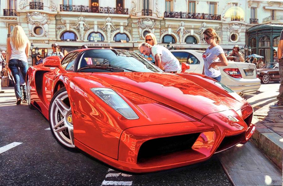 OLEG TURCHIN  Enzo Ferrari Original Oil 36 X 54