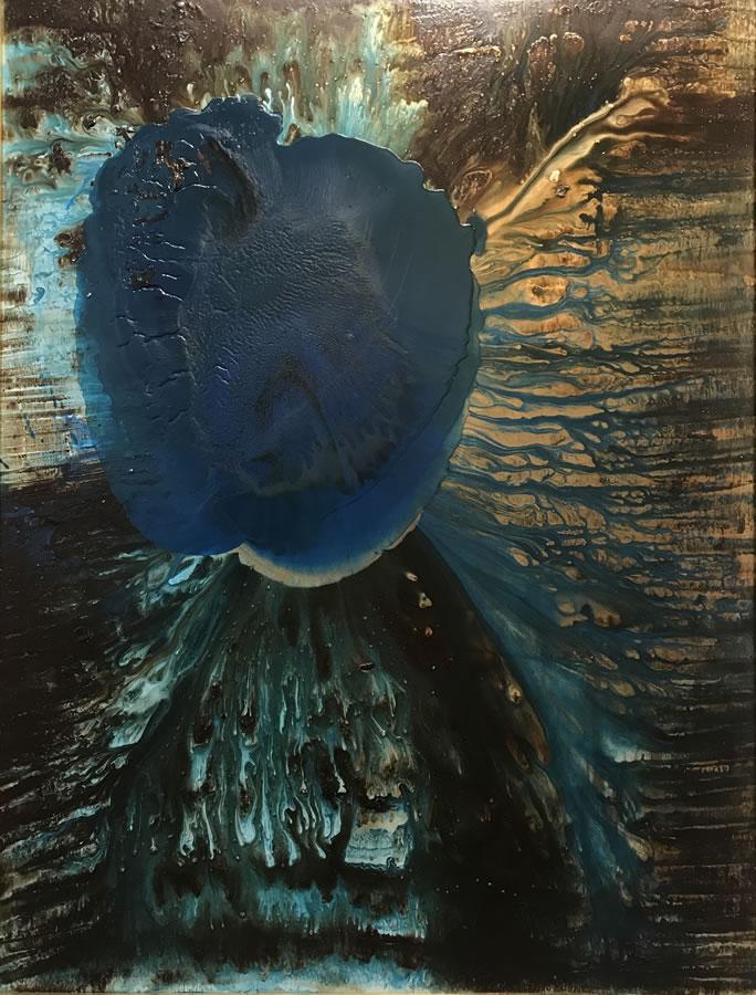 G KIM HINKSON  The Beginning Original Acrylic 36 X 48