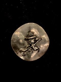MIAAD ESHRAGHI  Silver Inuksuk Hockey Original Sculpture 10 X 10