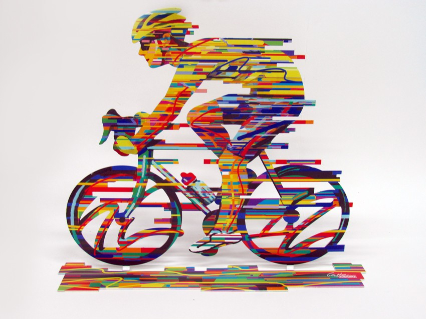 David Gerstein Ride Champion Original Sculpture | Open Edition 14X17