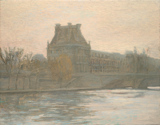PAUL CHIZIK  Along the Seine Original Oil 14 X 18