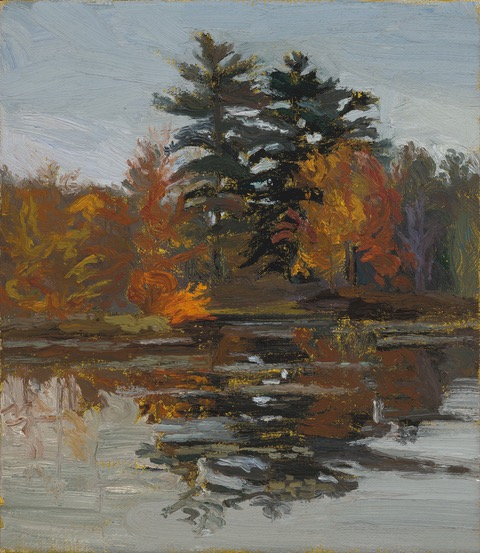 PAUL CHIZIK  Reflected Patterns of Orange Original Oil 8 X 10