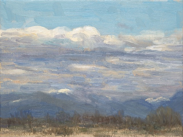PAUL CHIZIK  Shifting Cloud Over A Northern Landscape Original Oil 9 X 12