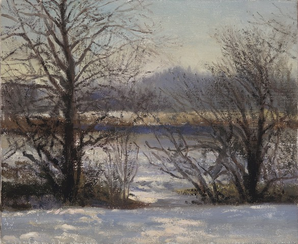 PAUL CHIZIK  WInter Trees Original Oil 10 X 12