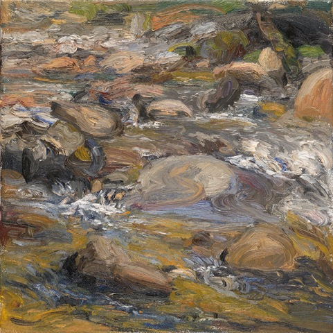 LIZA VISAGIE  Riverscape#3. Original Oil 10 X 10