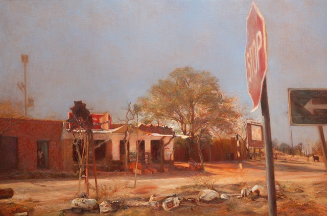 LIZA VISAGIE  Junction Original Oil 27 x 36