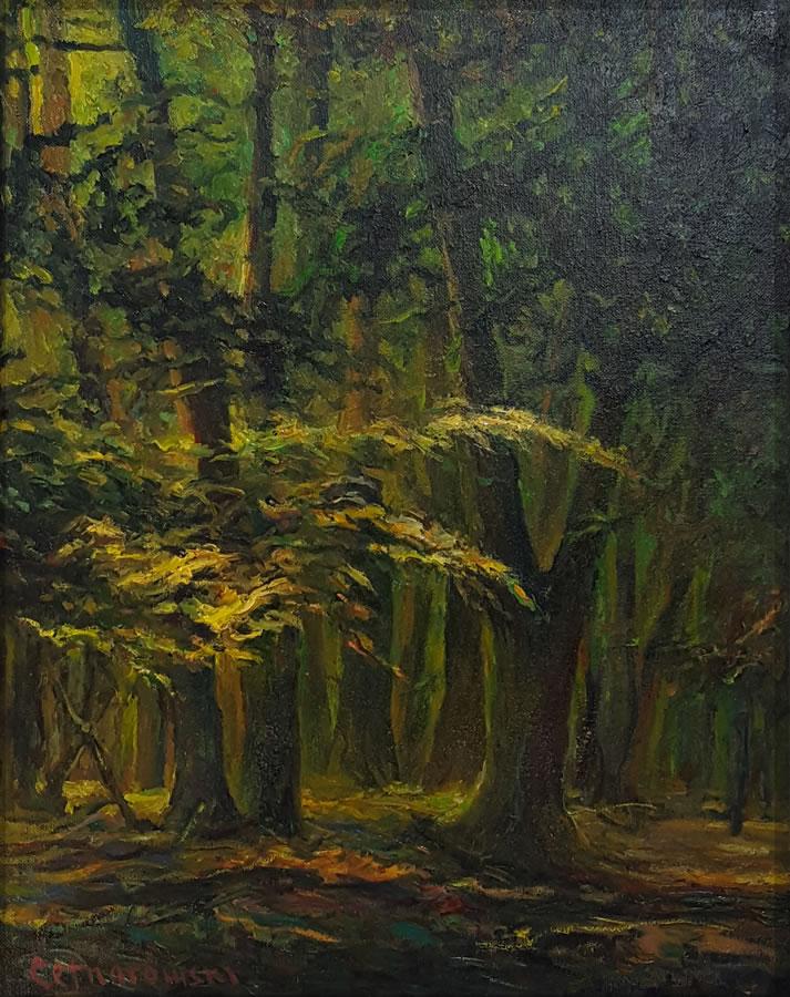 THOMAS CETNAROWSKI  Walking through the Light Original Oil 20 X 16