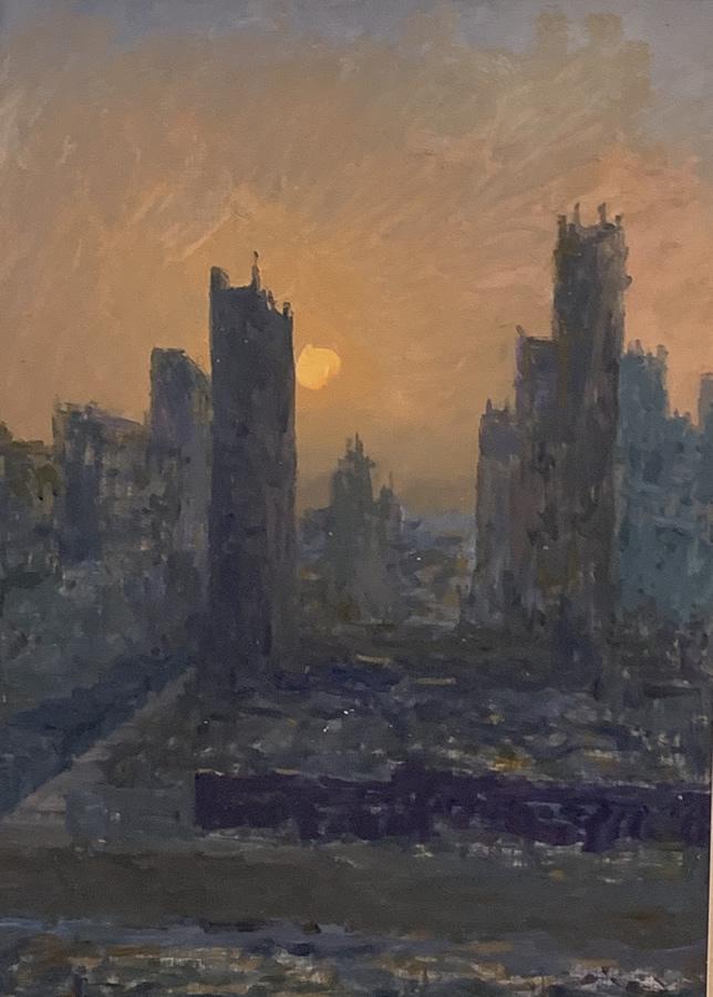 JACK HAER LEE  Sun City State-Good Morning Original Oil 20.5 X 30