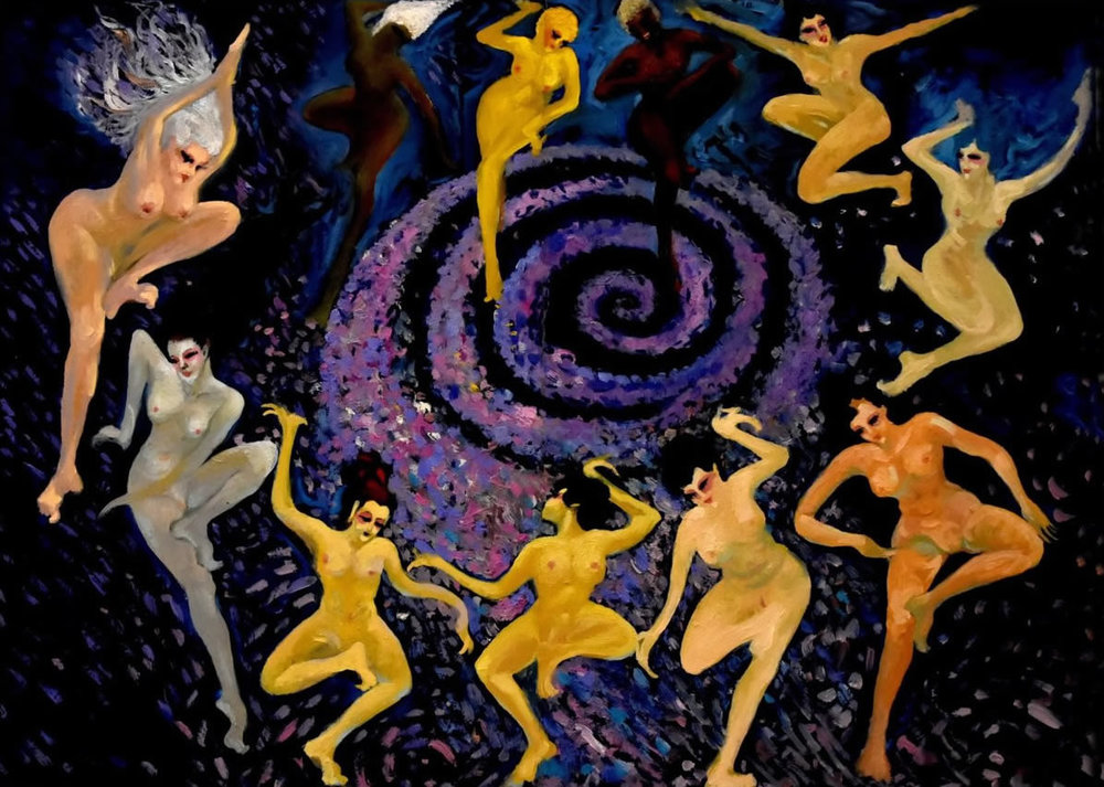 JACK HAER LEE  Skyism -The Dance of Venus Original Oil 41 X 30