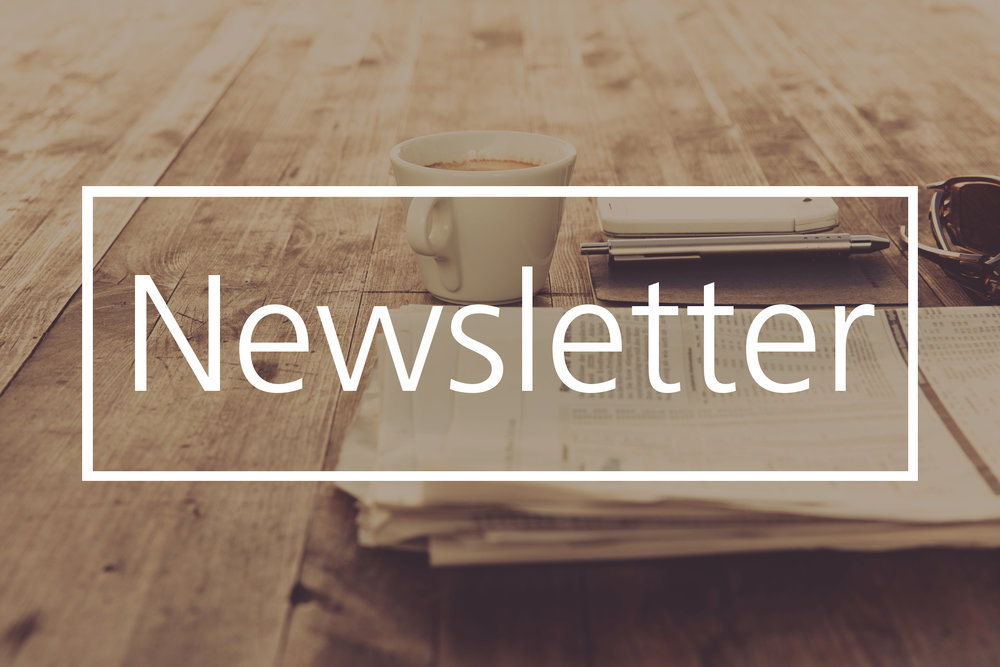 Newsletter page, most recent and sign up form