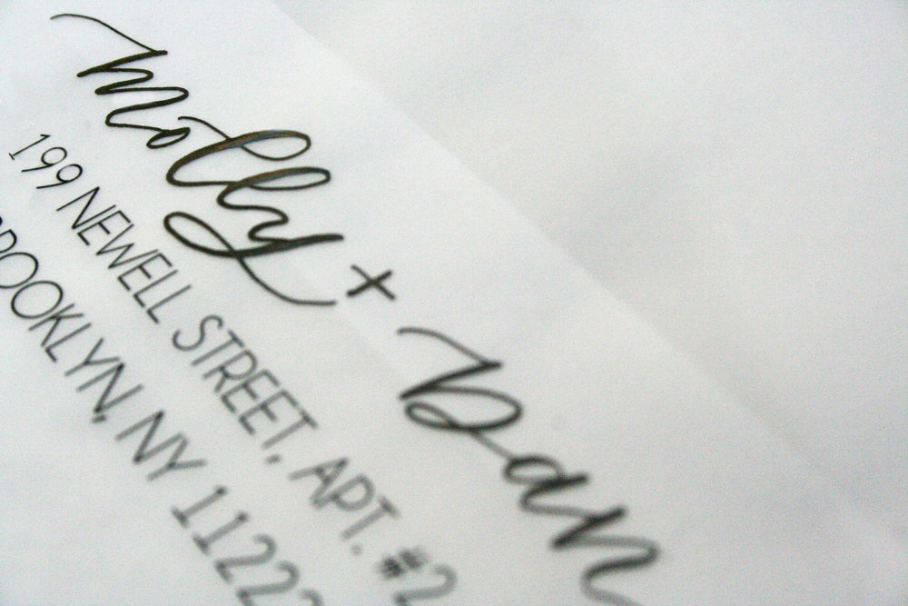 envelopes design by laney invitations and calligraphy