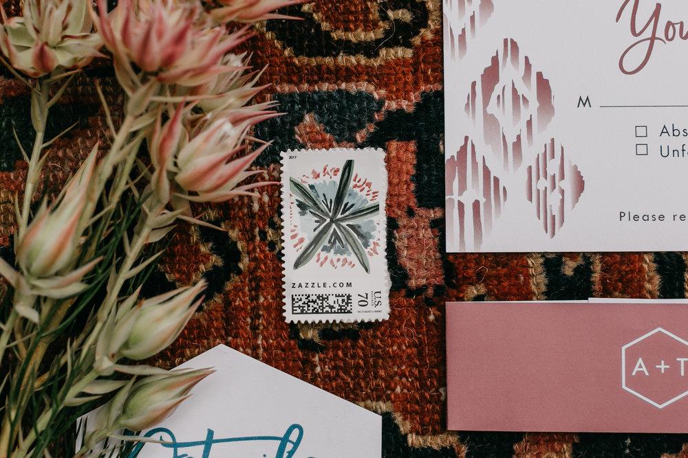custom postage stamp design