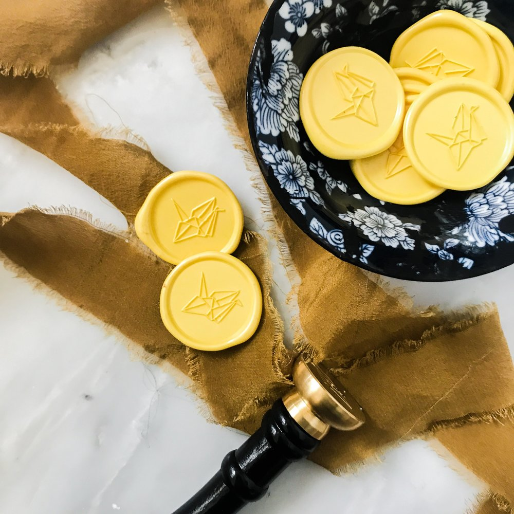 yellow wax seals