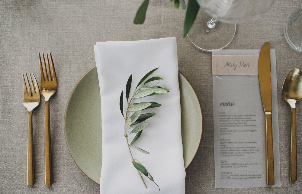fabric and vellum wedding menus