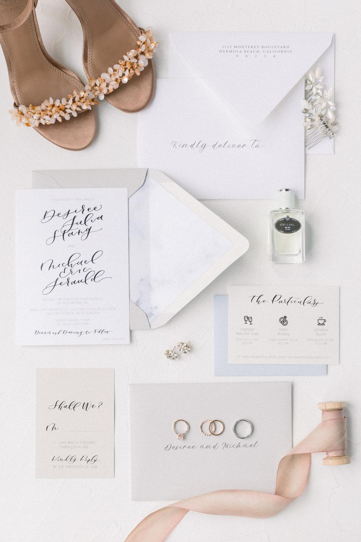 neutral clean wedding invitation