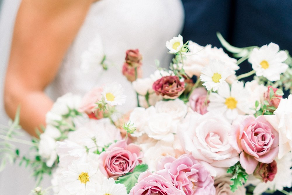 carla kayes wedding bouquet dusty rose