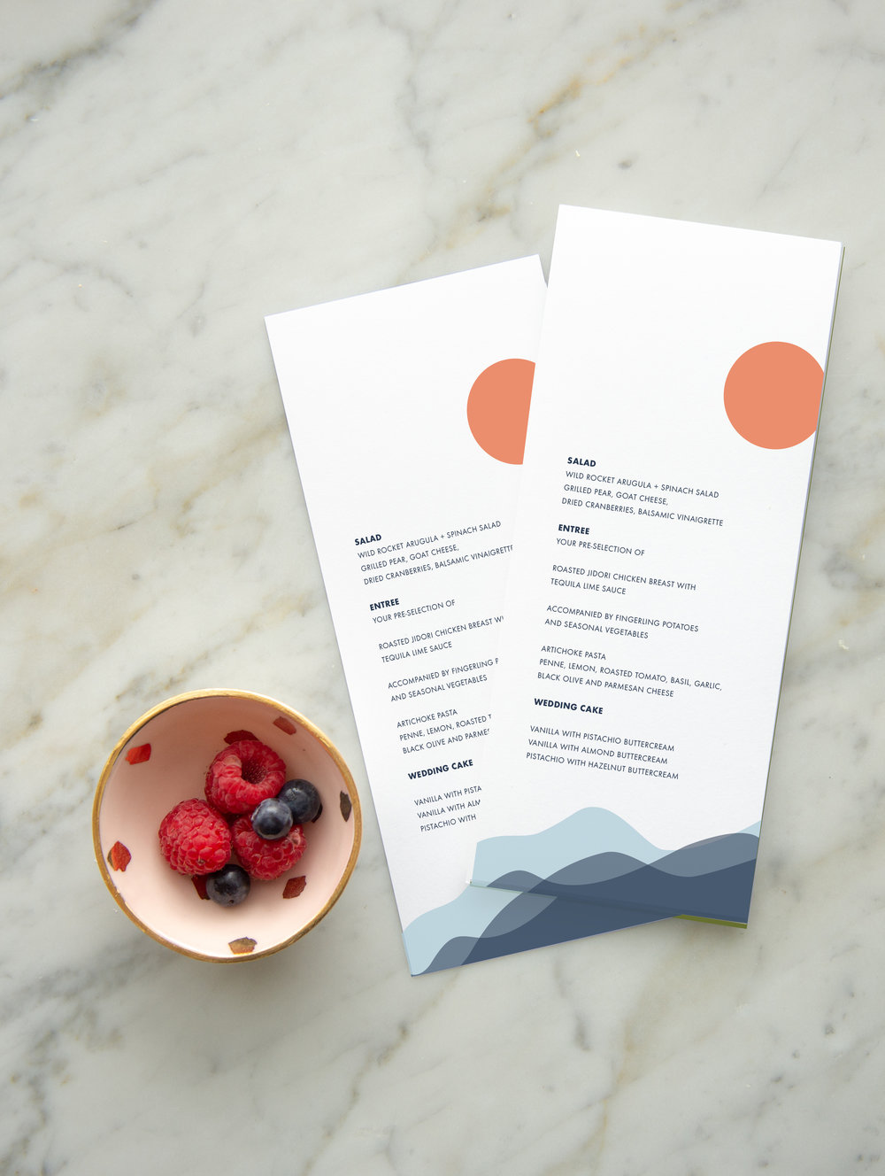 MOUNTAIN WEDDING MENU