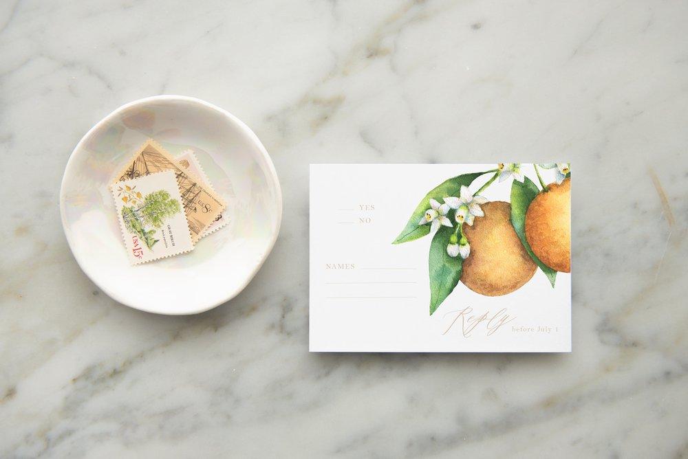 Watercolor Oranges Wedding Ideas