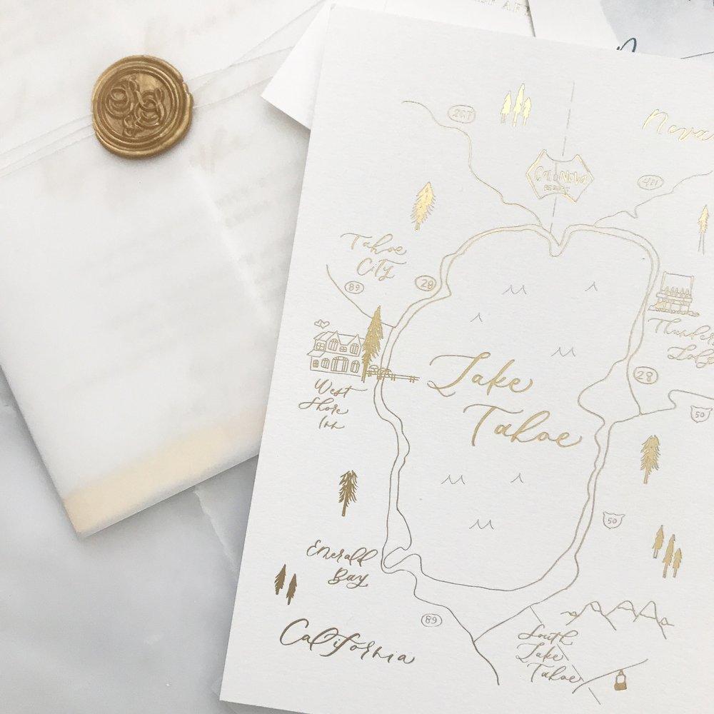 Lake Tahoe Wedding Map